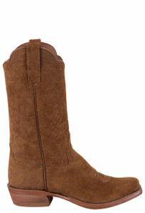 Rios of Mercedes Rust Crazyhorse Rough Out Cowboy Boots - Side