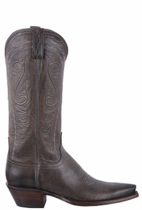 Lucchese Women's Anthracite Mad Dog Goat Cowgirl Boots - Side