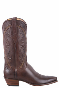 Lucchese Women's Whiskey Baby Buffalo Cowgirl Boots - Side