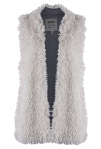 Dylan Fuzzy Chic Vest With Pockets - Front
