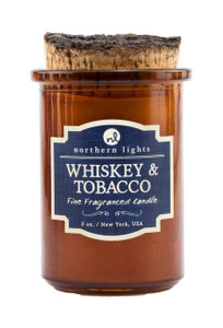Whiskey and Tobacco Spirit Jar Candle  - Front