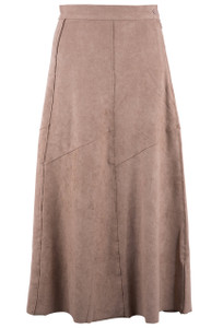 Hudson Faux Suede Long Skirt - Chamois - Front