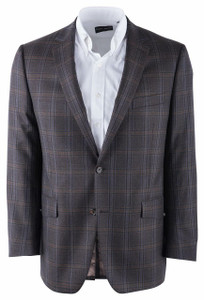 Pinto Ranch Brown Plaid Western Sport Coat - Front