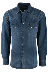 Cinch Dark Indigo Western Snap Shirt - Front