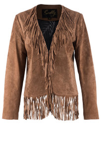 Scully Fringe Suede Short Jacket - Front