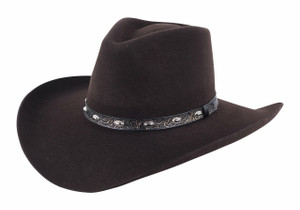 Stetson 3X Chocolate Buckshot Hat - Side