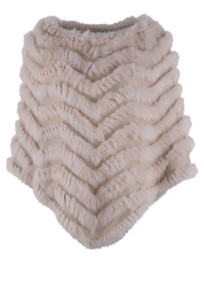 Dolce Cabo Chevron Rabbit Poncho - Front