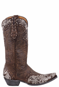 Old Gringo Women's Erin Brass and Bone Boots - Side