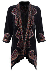 Paparazzi Short Jacket with Rust Embroidery - Front