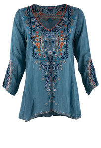 Johnny Was Maya Blouse - Front