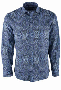 David Smith Australia Enigma Aspen Print Sport Shirt - Front