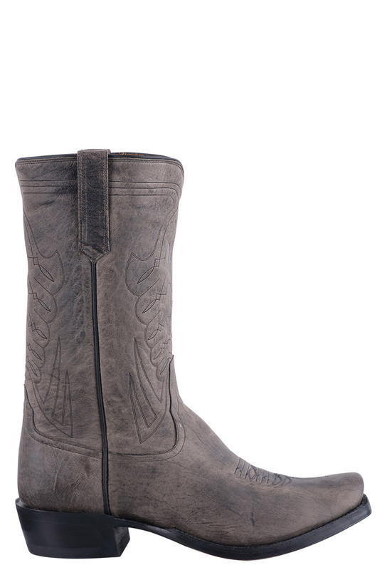 Rios of Mercedes Men's Anthracite Mad Dog Goat Cowboy Boots - Side