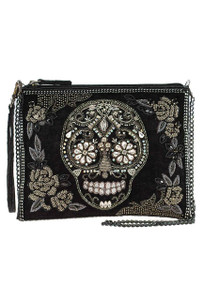 Mary Frances Crystal Skull Crossbody Purse - Front