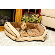 "K&H Pet Products Bolster Couch Pet Bed Large Mocha / Tan 28"" x 40"" x 9"""