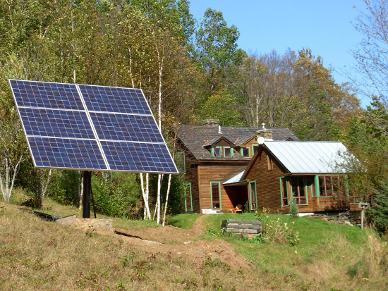 Bon An Off Grid Pole Mounted Solar Array