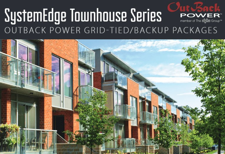 SystemEdge Townhouse Series backup power systems