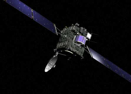 Rosetta and lander Philae collect solar energy with their solar panels and solar cells to power their instruments and communications.