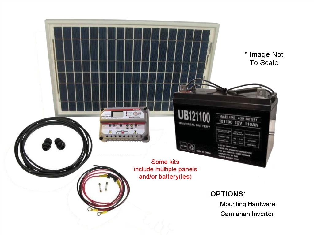 Small OffGrid Solar Power Kits