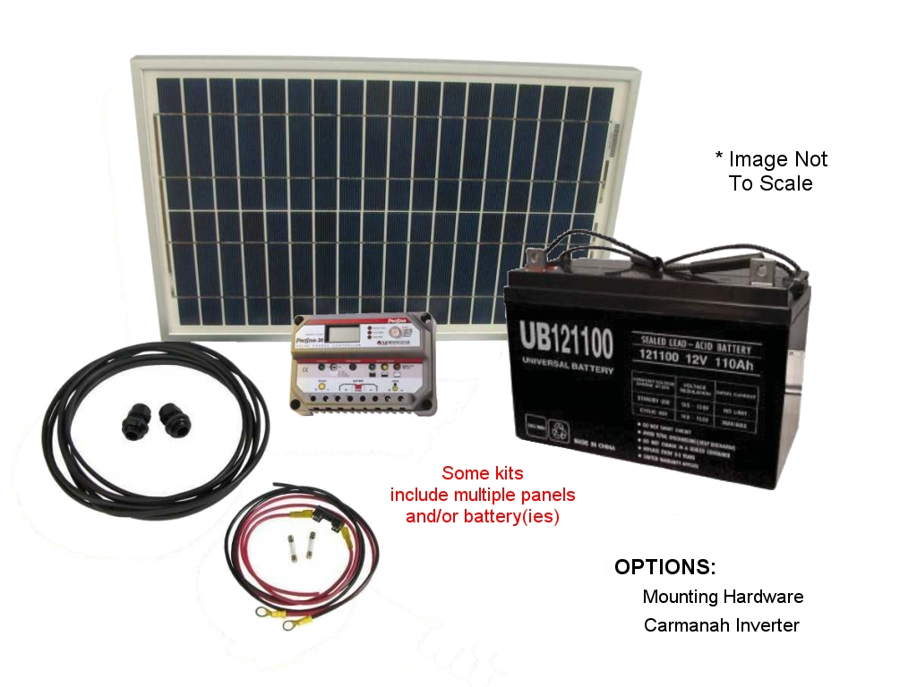 Small Off-Grid Solar Power Kits