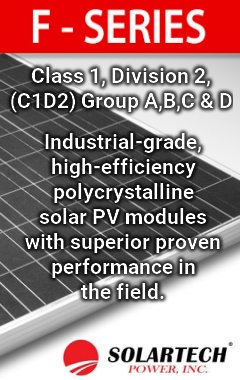 Solartech Power F-Series Solar PV Modules for industrial solar applications.