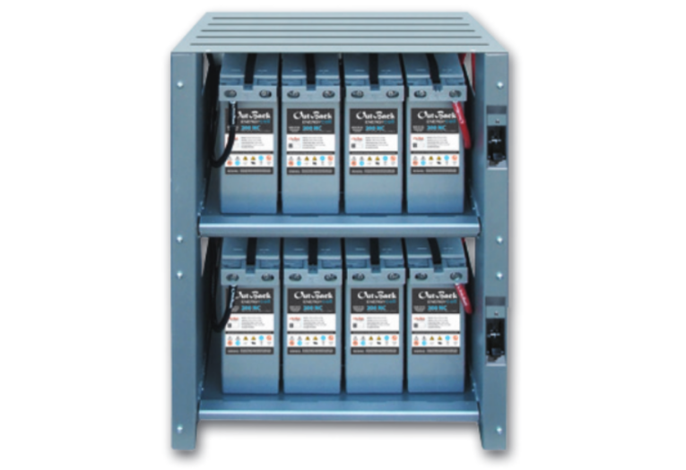 EnergyCell 200NC Battery Bank with 8 batteries and battery cabinet