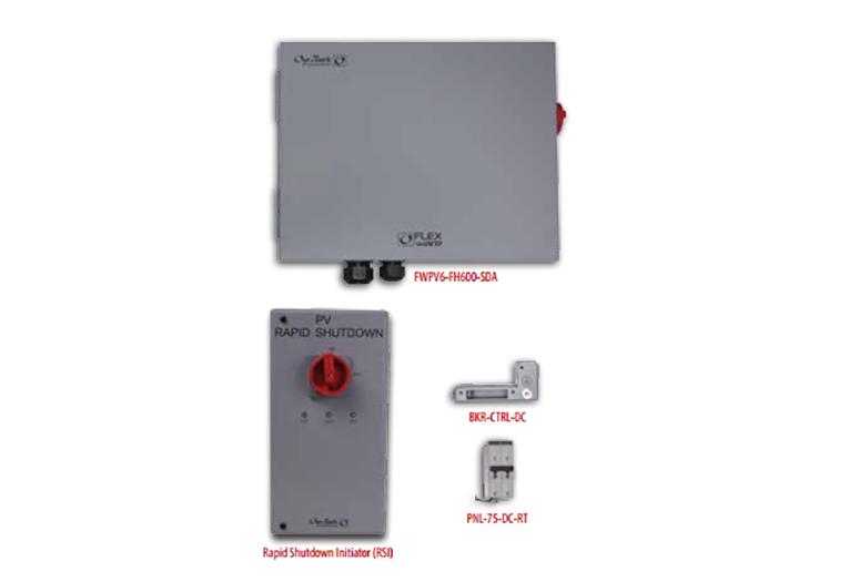 FLEXware ICS Plus Cominer Box with PV array Rapid Shutdown switch.
