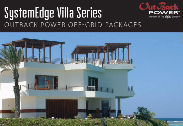 Need a reliable power option in a remote location?  The SystemEdge Villa Series off-grip power system is the ultimate solution!
