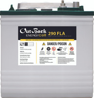 Outback EnergyCell 290FLA Deep Cycle Flooded Lead Acid Battery