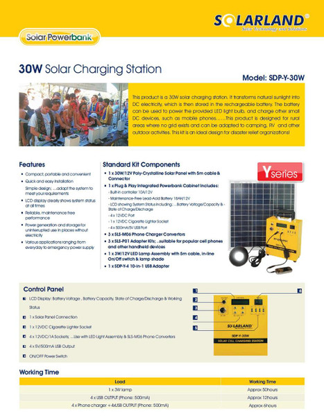 SolarLand SPD-Y-4 - USB 10 in 1 Cell Charger