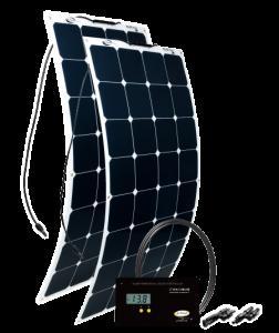 GO POWER! 200W Solar Flex Kit w/ 30A Digital Controller