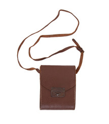 Old Brown Leather Case Over-the-Shoulder Bag