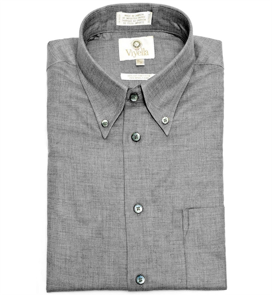 Flannel grey button down shirt by viyella hansen 39 s clothing for Grey button down shirt