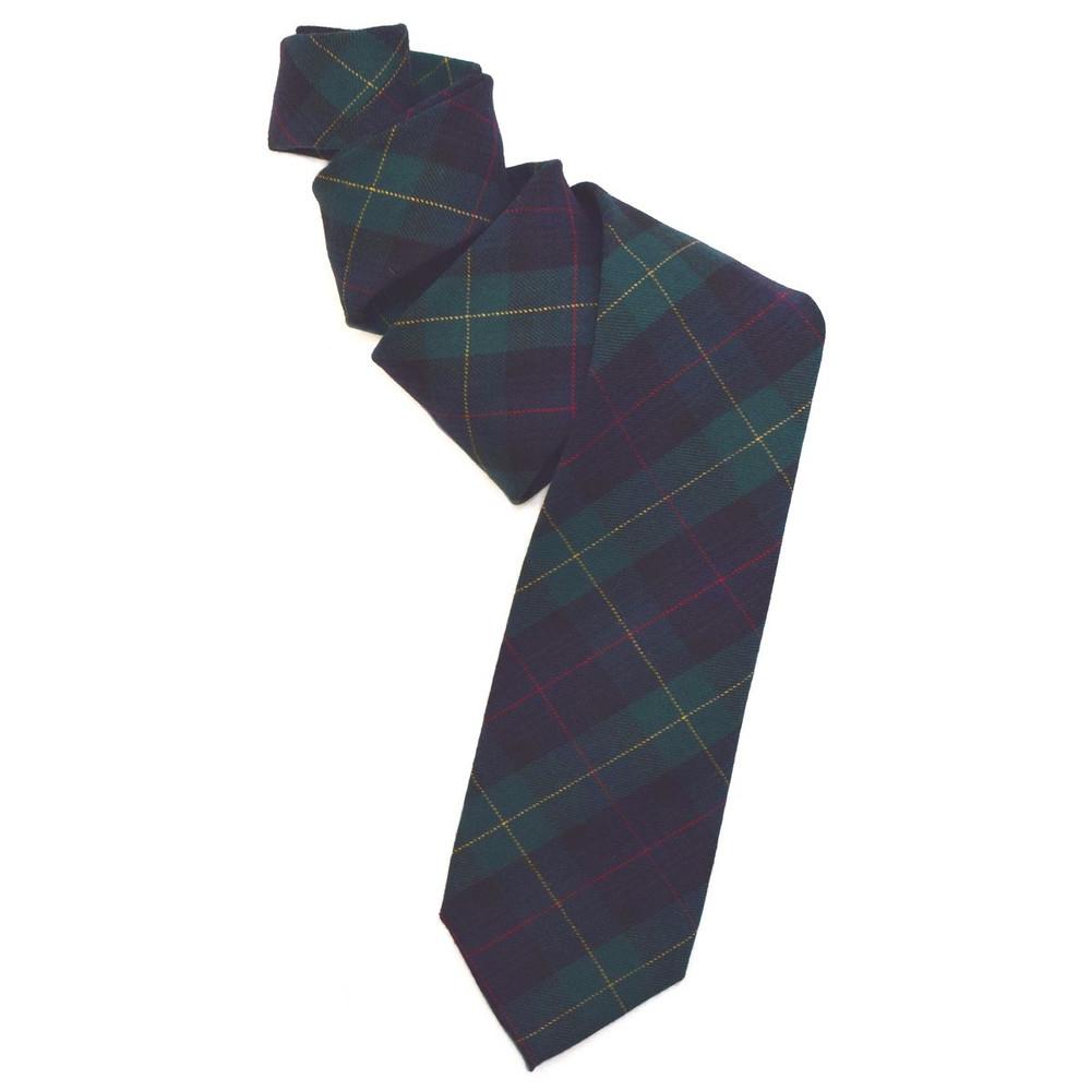 Black Watch Tartan Woven Wool Tie by Robert Jensen