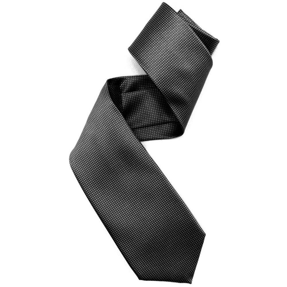 Black and Grey Pindot Woven Silk Tie by Robert Jensen