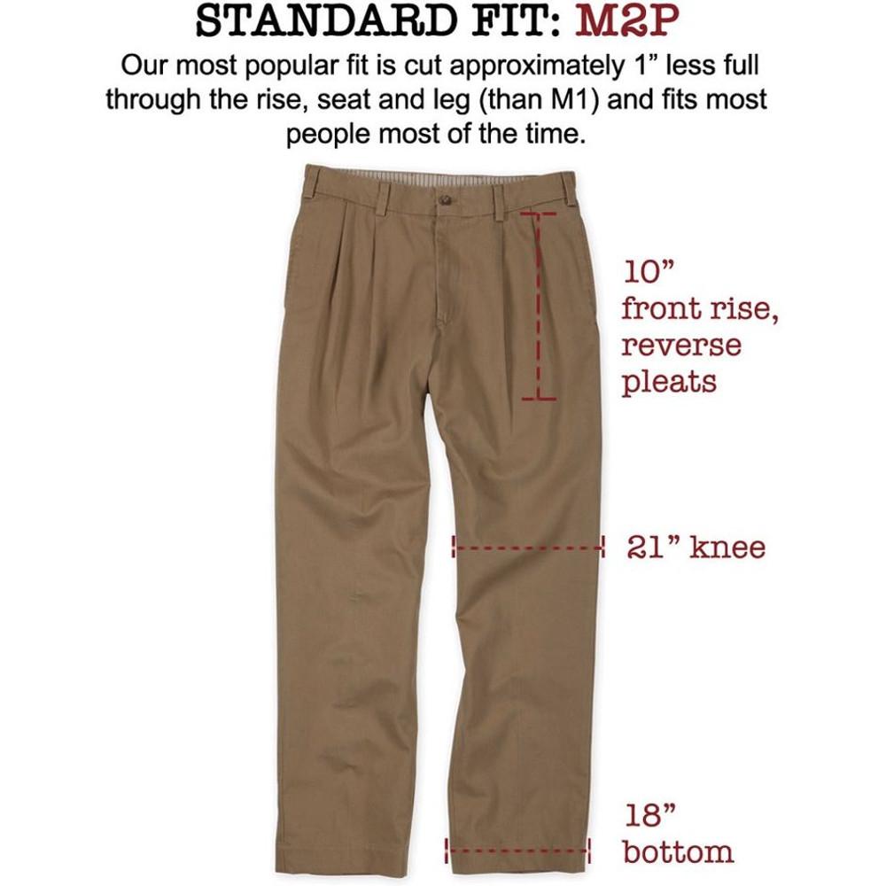 Tropical Poplin Pant - Model M2P Standard Fit Reverse Pleat in Sand by Bills Khakis