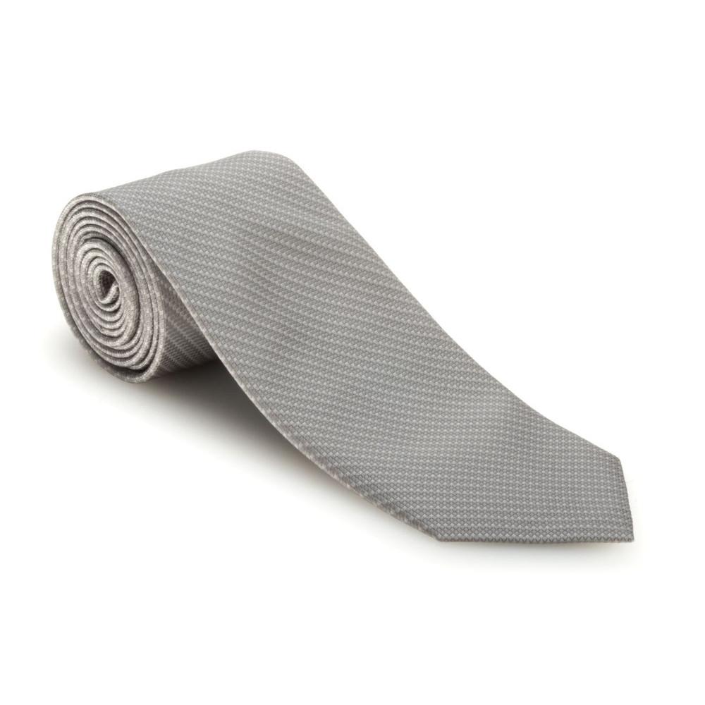 Spring 2017 Grey 'Robert Talbott Protocol' Hand Sewn Woven Silk Tie by Robert Talbott