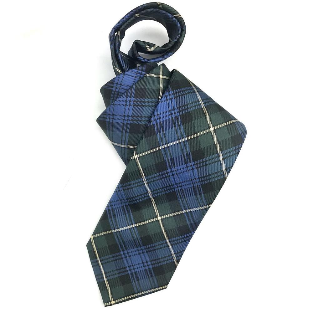 Fall 2017 Best of Class Blue and Green 'Holiday Tartan' Woven Silk Tie by Robert Talbott
