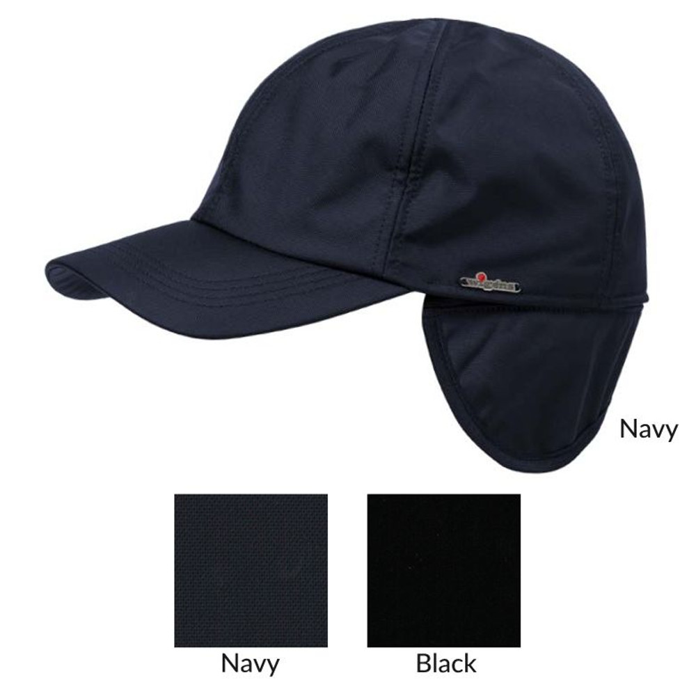 Classic Baseball Nylon Cap with Earflaps and Pile Lining in Choice of Colors by Wigens