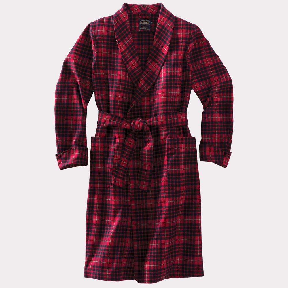 Washable Whisperwool Lounge Robe in Macian Tartan by Pendleton