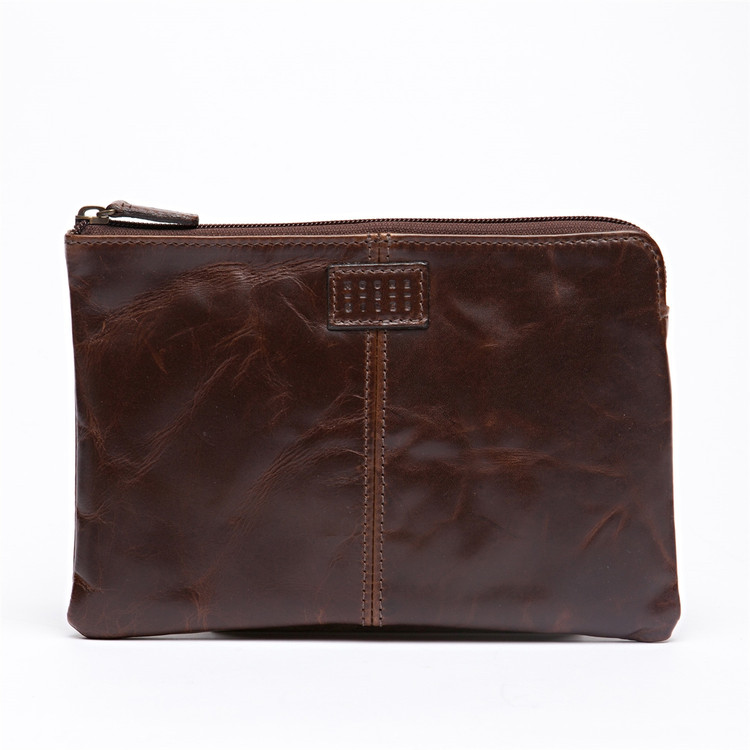 Mini Tablet Pocket in Brompton Brown by Moore & Giles
