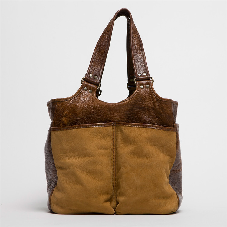 Belle Picnic Tote in Nubuck Bison Tan by Moore & Giles