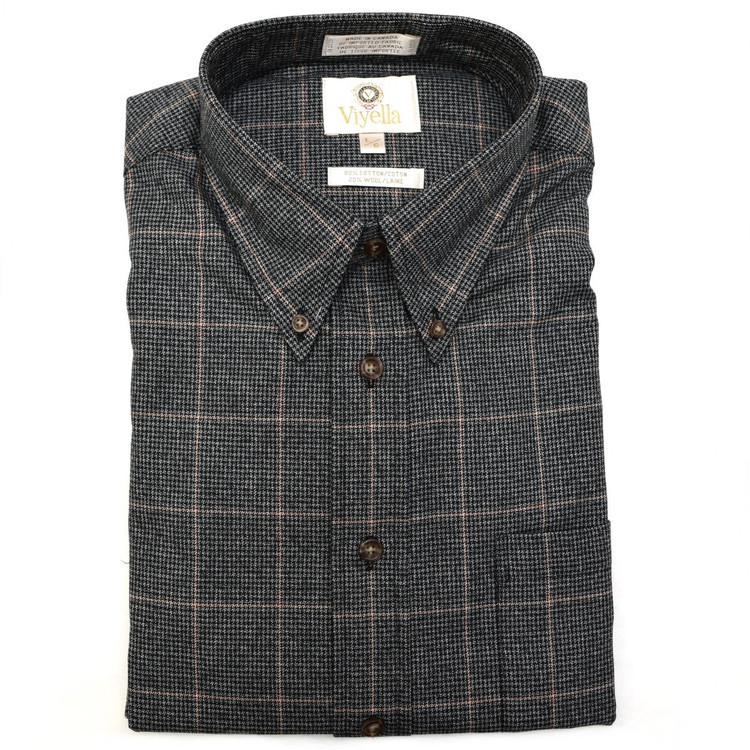 Charcoal Houndstooth Plaid Button-Down Shirt by Viyella