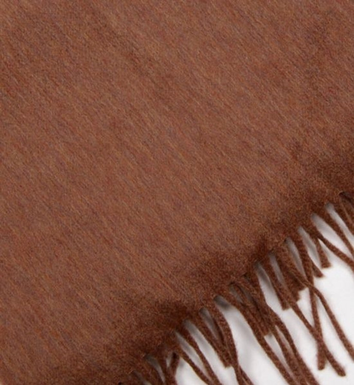Wool and Cashmere Fringed Scarf by Begg of Ayr