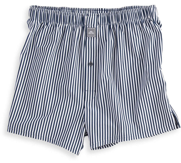 Competition Stripe Stretch Jersey Performance Boxer in White and Midnight by Peter Millar