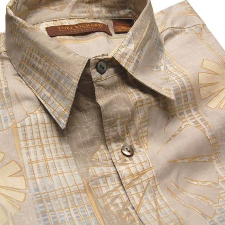 'Pond' Resort Shirt (Size Large) by Tori Richard