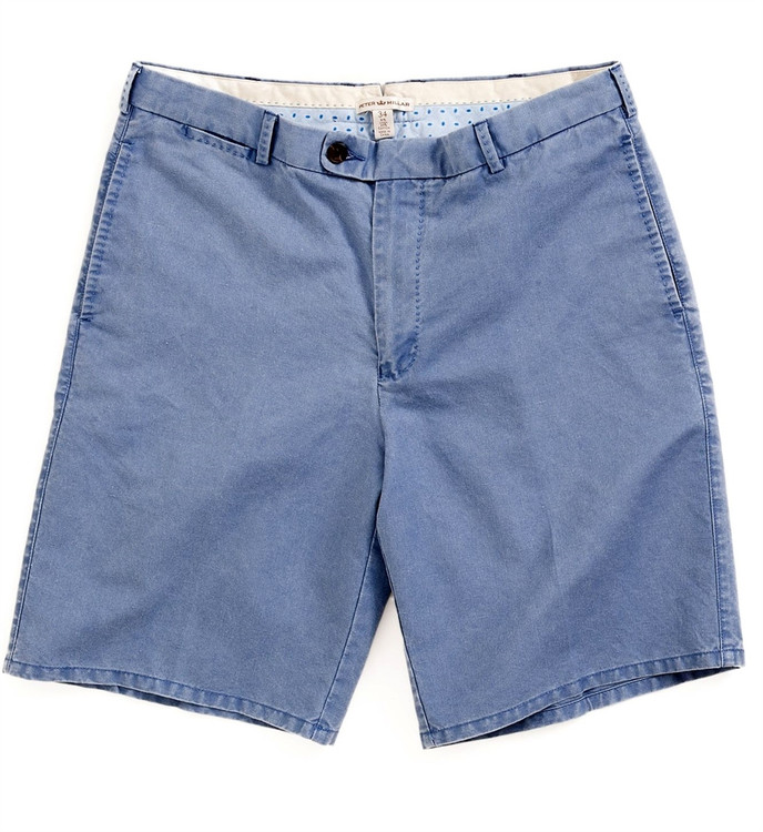 Linen Cotton Short in Indigo (Size 35) by Peter Millar