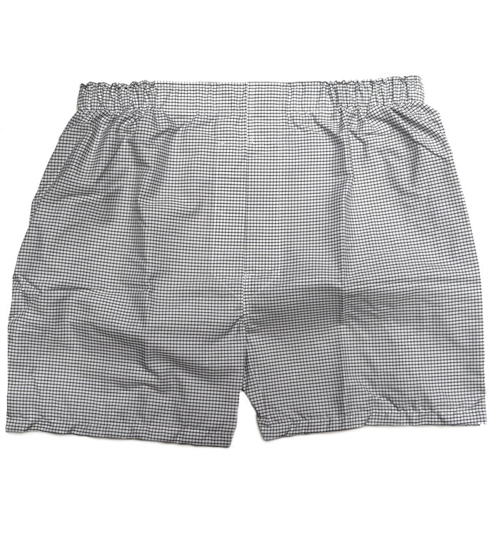 Premium Combed Cotton Boxer in White and Black Check by Tiger Mountain