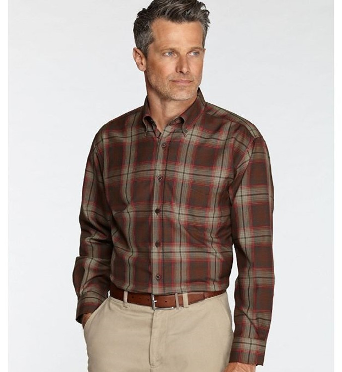 Brown and Red Plaid Sir Pendleton Wool Shirt by Pendleton