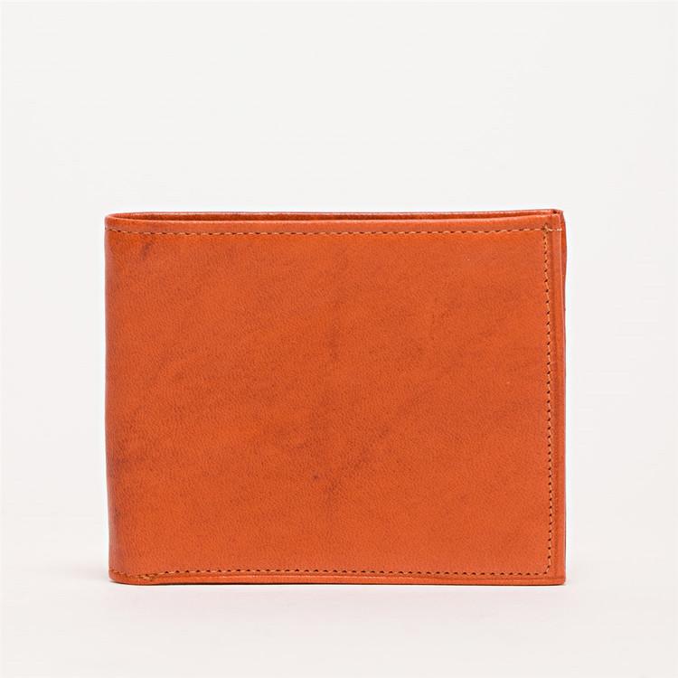 Bi-Fold Wallet in Orange by Moore & Giles