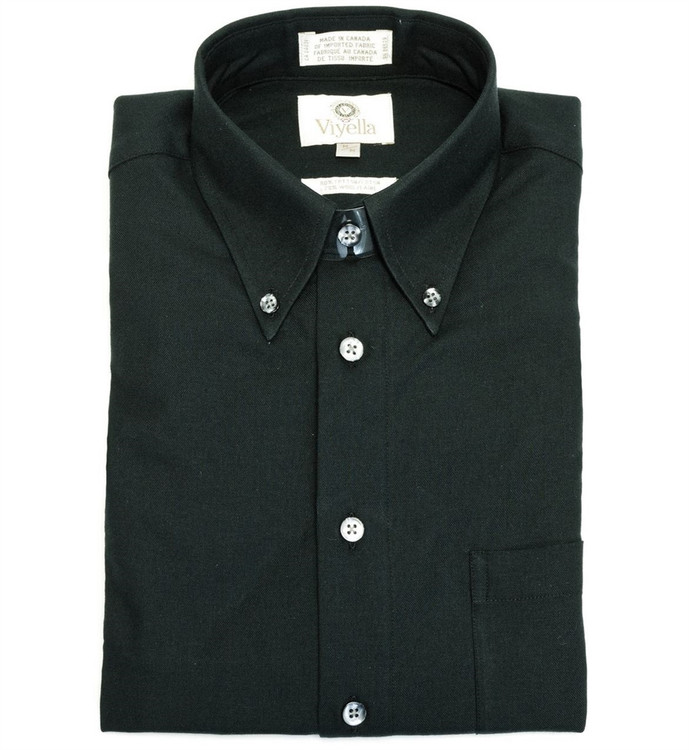 Black Button-Down Shirt by Viyella